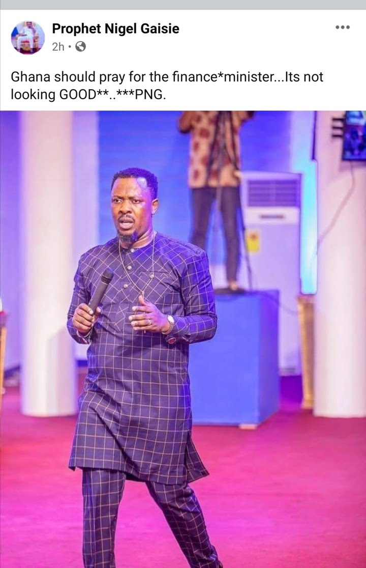 Nigel Gaisie hits the NPP with another doom prophecy; calls on Ghanaians to pray for Ken Ofori-Atta 2